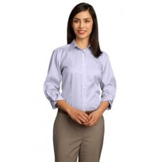 CLOSEOUT Red House® - Ladies 3/4-Sleeve Dobby Non-Iron Button-Down Shirt. RH61