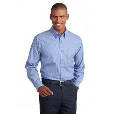 CLOSEOUT Red House® - Stripe Non-Iron Pinpoint Oxford. RH64